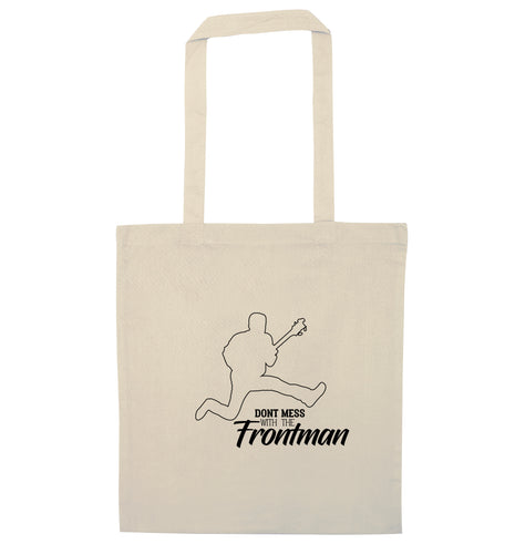 Don't mess with the frontman natural tote bag