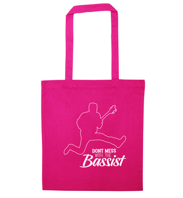Dont mess with the bassist pink tote bag