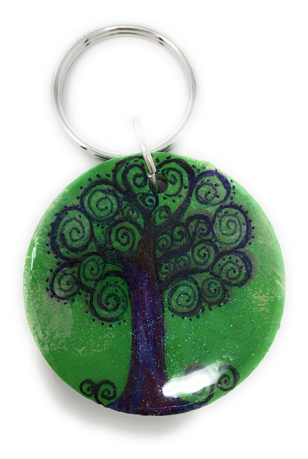TREE OF LIFE (Traditional) wood keychain