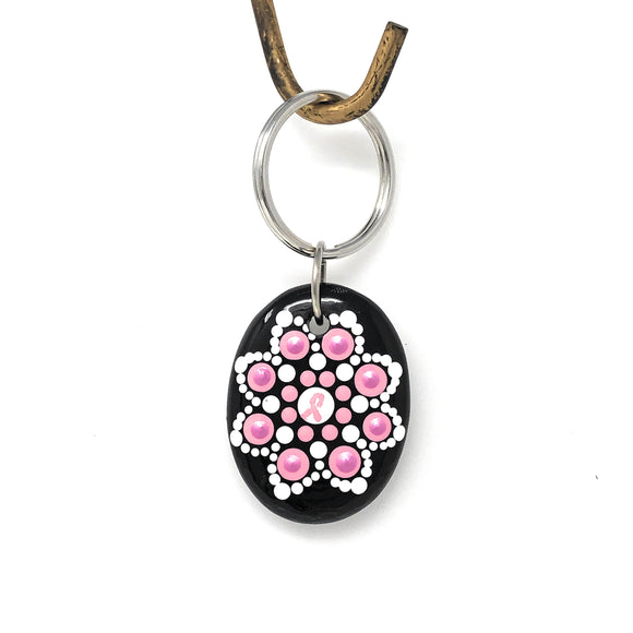 ENCOURAGEMENT FOR BREAST CANCER Keychain
