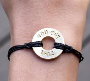 SPECIAL WORD Bracelet (hand-stamped)