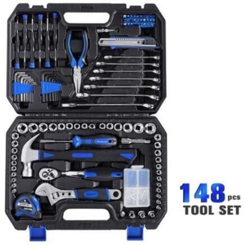 210 PC Ratchet Wrench Hand Tools Set Combination Socket Adapter Kit Spanner Set General Household Wrench Set Tool