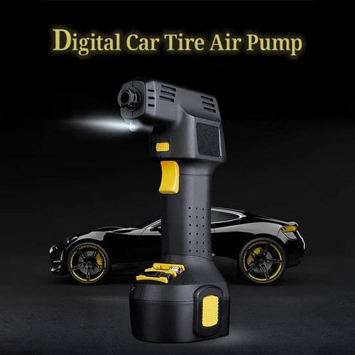 Portable Air Compressor Pump, Digital Car Tire Air Pump with Digital Display and LED Lights - Volterin