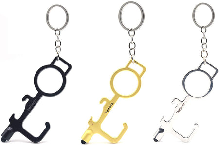 3 Pack No Touch Key Door Opener Tool, Sports Outdoors Keychain Stylus Portable Press Elevator Hand Stick