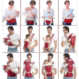 Perfect Multifunctional Baby Carrier ,Hip Seat & Kangaroo, Soft Baby Front & Back Position Carrier/Baby Facing in & Facing Out – For Infant & Toddler - Volterin