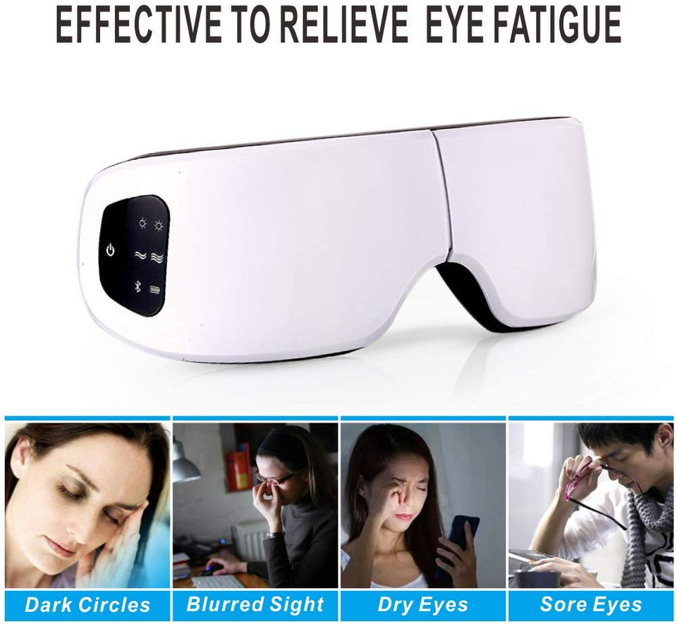 Smart Eye Massager Air Compression Eyes Massage for tired eyes Heated Goggles Anti Wrinkles Dark circles remove/Travel case