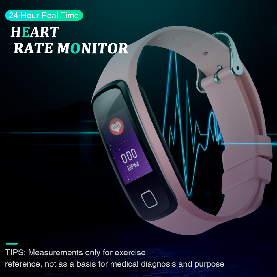 AGPTEK™ Fitness Tracker Watch with Color Screen, Smart Wristband with Sport Band Heart Rate Sleep Monitor Pedometer