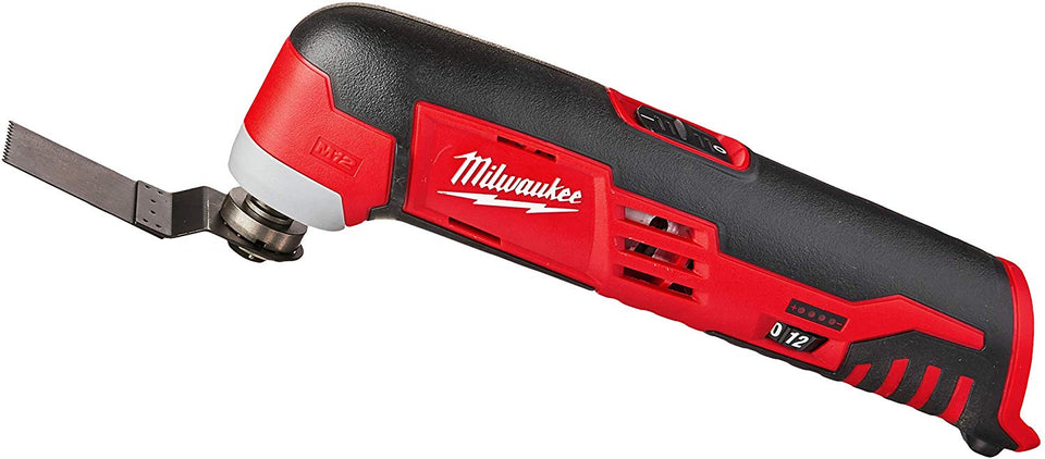 Milwaukee 2426-20 M12 12 Volt Redlithium Ion Variable Speed Cordless Multi Tool with Multi-Use Blade, Sanding Pad, & Multi-Grit Sanding Papers