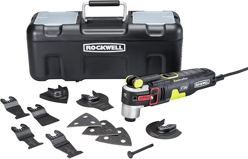 Rockwell RK5151K 4.2 Amp Sonicrafter F80 Oscillating Multi-Tool with Duotech Oscillation Angle Technology - Volterin