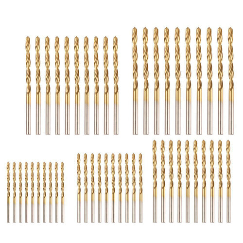 50Pcs Twist Drill Bit Set by Volterin, HSS Shank, Titanium Coated High Speed Steel, Mini Drill Bit, Micro Precision 1/1.5/2/2.5/3mm - Volterin