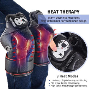 iRelief™ Super Soother Knee Reliever Machine, Knee and Joint Massager, Electric Heat Vibration Massage - Volterin