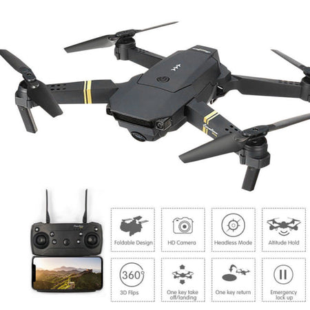 Skyhawk Wide Angle HD 1080P Camera Hight Hold Mode Foldable Arm RC Quadcopter  X Pro RTF Drone - Volterin