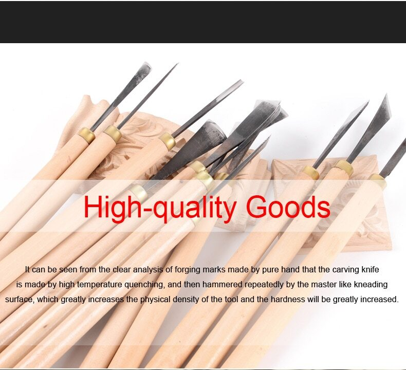 Wood Carving Tools, Professional Carving Knife Combination Set Root Carving Tools Wood Chisel Woodworking Hand DIY Tools