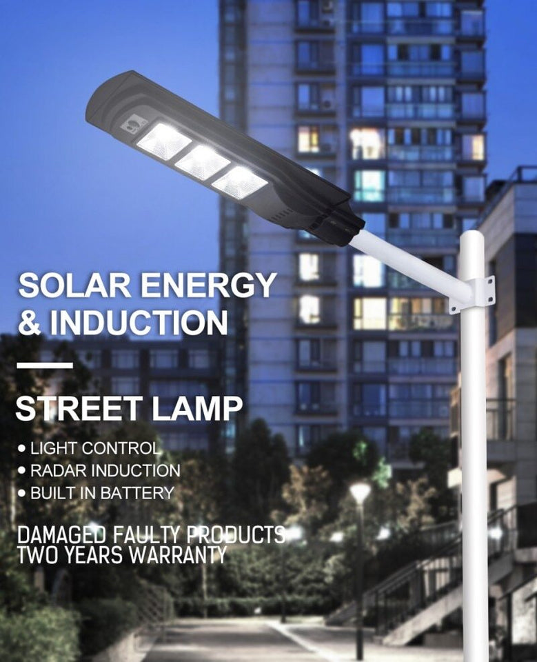 1pc 50W 100W 150W Led Solar Street Light PIR Waterproof Outdoor Solar Powered Radar Motion Light Control Lamp for Villas and Garden Yard
