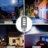 LED Auto Solar Street Light 21000LM 40W/80W/120W, 20/40/60 LED Outdoor Wall Street Lighting Security Sensor Lamp Motion Spotlight/ IPX6 -