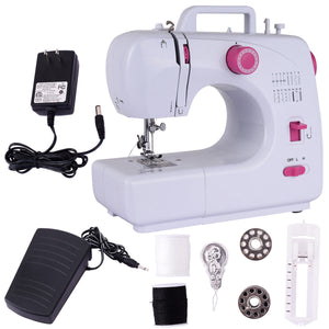 New Free-Arm Crafting Sewing Machine with 16 Built-in Stitches Automatic Thread Rewind Two Speed Sewing EP22774