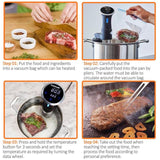 TINTON LIFE 800 Watts Sous Vide Cooker Thermal Immersion Circulator Machine with Digital LCD Display Time and Temperature Control - Volterin