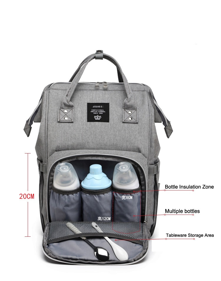 Diaper Bag Backpack, Multifunction Travel Back Pack Maternity Baby Changing Bags, Large Capacity, Waterproof and Stylish