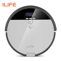 ILIFE V8s Robot Vacuum Cleaner Sweep&Wet Mop Navigation Planned Cleaning 0.75L Dustbin Adjustable Water Tank Schedule Household