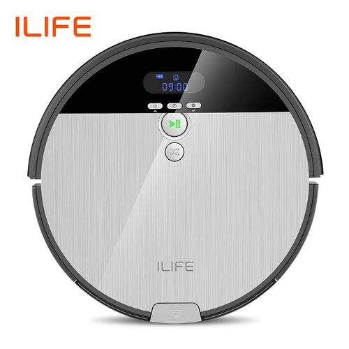 ILIFE V8s Robot Vacuum Cleaner Sweep&Wet Mop Navigation Planned Cleaning 0.75L Dustbin Adjustable Water Tank Schedule Household - Volterin