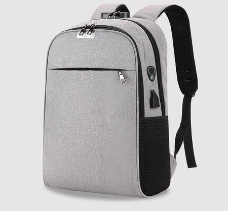 Anti-Theft Nylon Backpack, USB Charge Laptop Travel Bagpack, School Bag, Headphones Slot Unisex - Volterin