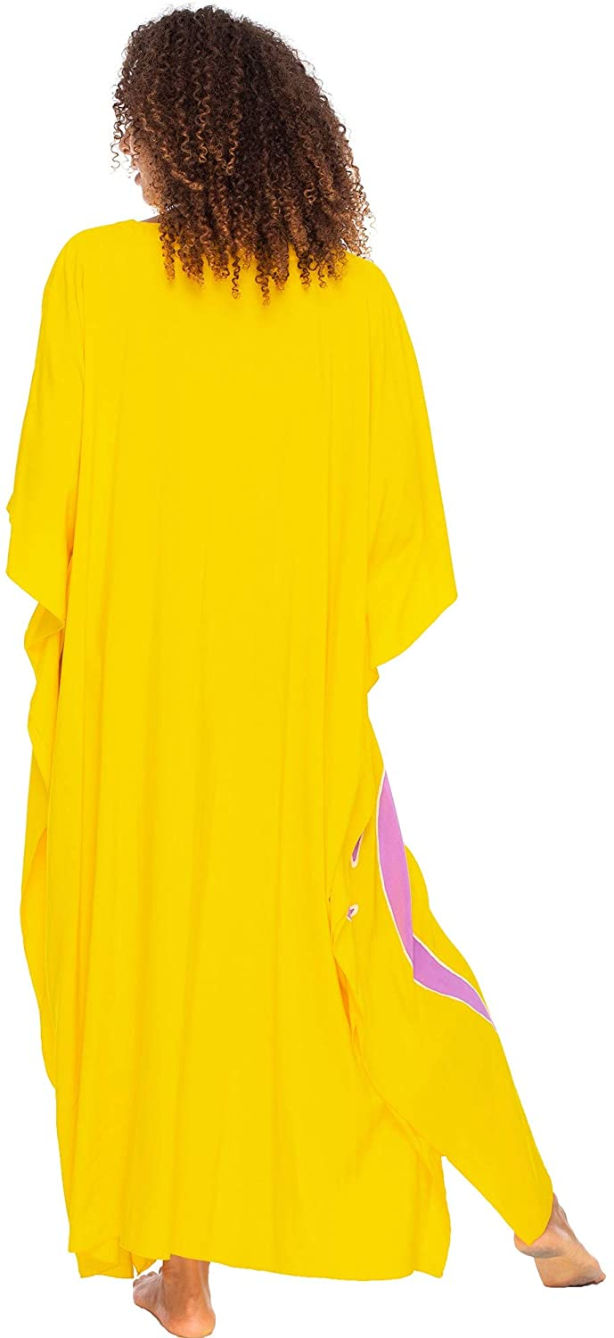Long Maxi Caftan Dress Loose Beach Poncho  Beauty Of Women