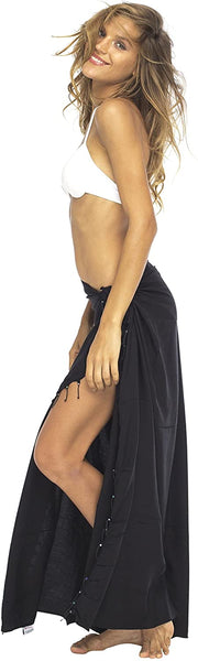 Beaded Sarong Swimsuit Cover Up Pareo