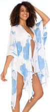 Hibiscus Swimsuit Bikini Cover Up Beach Kimono Resort Wear