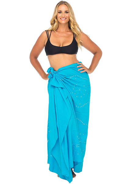 Plus Size Embroidered Sarong Swimsuit Cover up