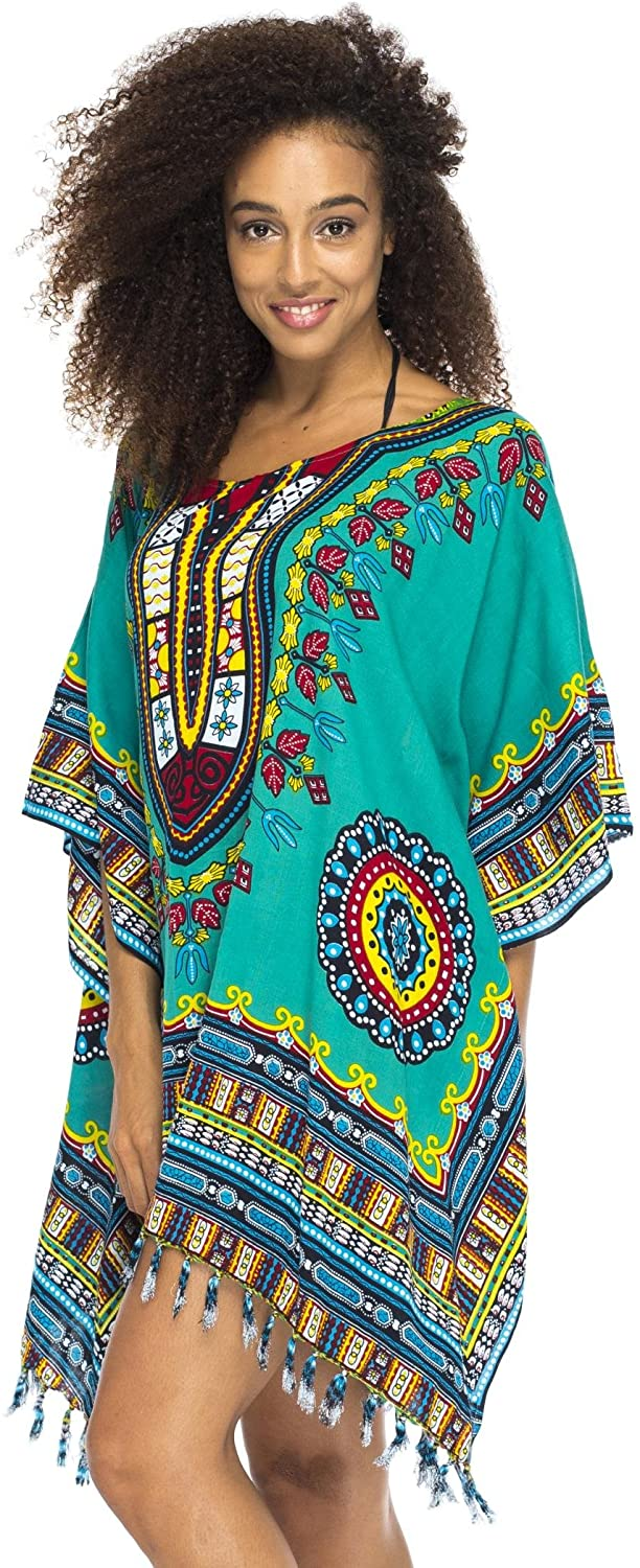 Short African Calypso Colored Tribal Cover Up