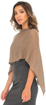 100% Cotton Poncho Lightweight Pullover Sweater Shrug