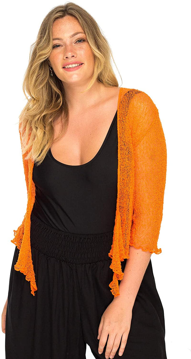 Plus Size Shrug Bolero Sheer Cardigan Arm Cover 2 X 3X 4X Lightweight