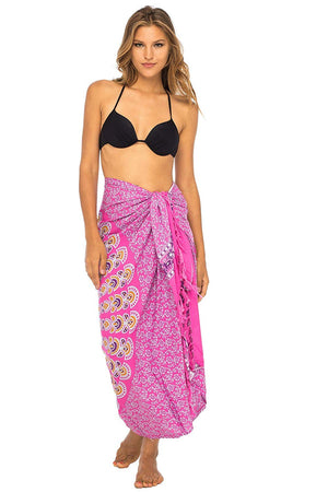Swimsuit Beach Cover Up Wrap Sarong Peacock