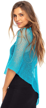 Sheer Poncho Shrug Bolero, Lightweight  Pullover Sweater