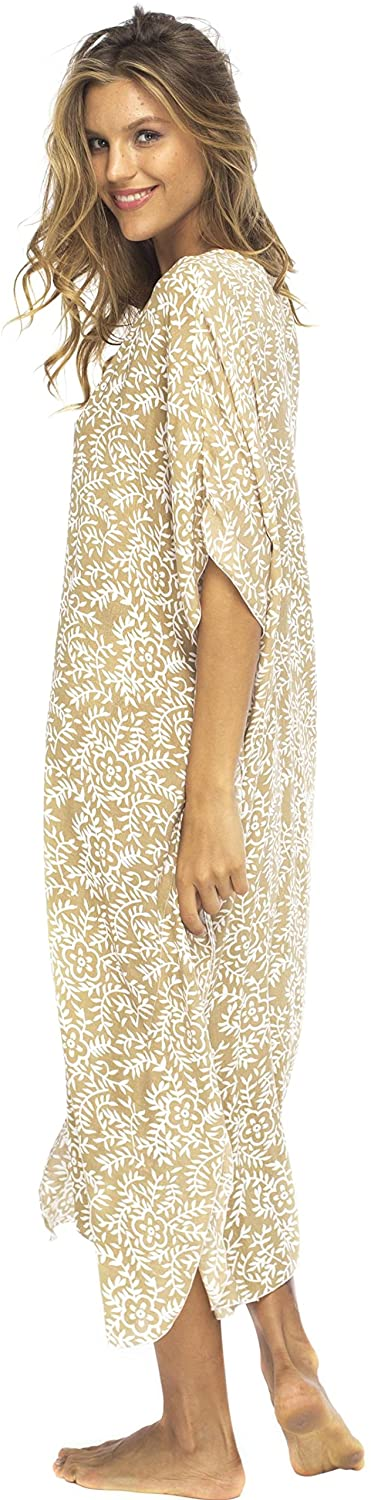 Loose Maxi Long Beach Dress Cover Up Caftan Floral
