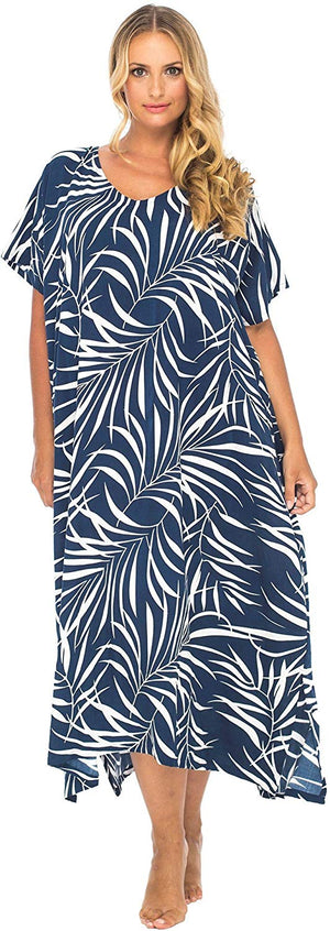 Back From Bali Womens Plus Size Maxi Dress, Beach Cover up Tropical Floral Long Summer Sundress