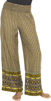 Back From Bali India Pant Gold Womens Wide Leg Palazzo Lounge Yoga X-Large