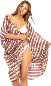 Short Tie Dye Beach Kimono Cardigan Bathing Suit Swimsuit Cover Up