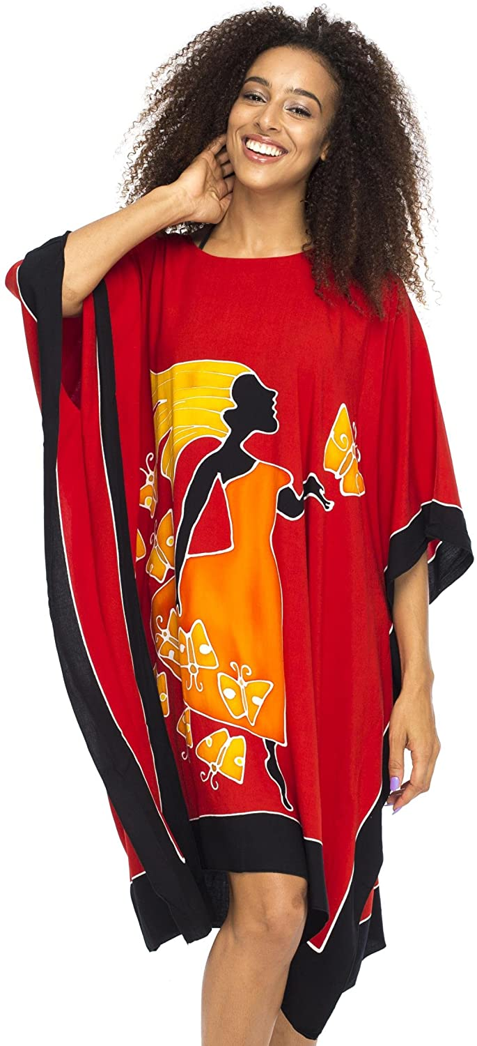 Short Knee Length Caftan Dress Loose Beach Poncho  Beauty Of Women