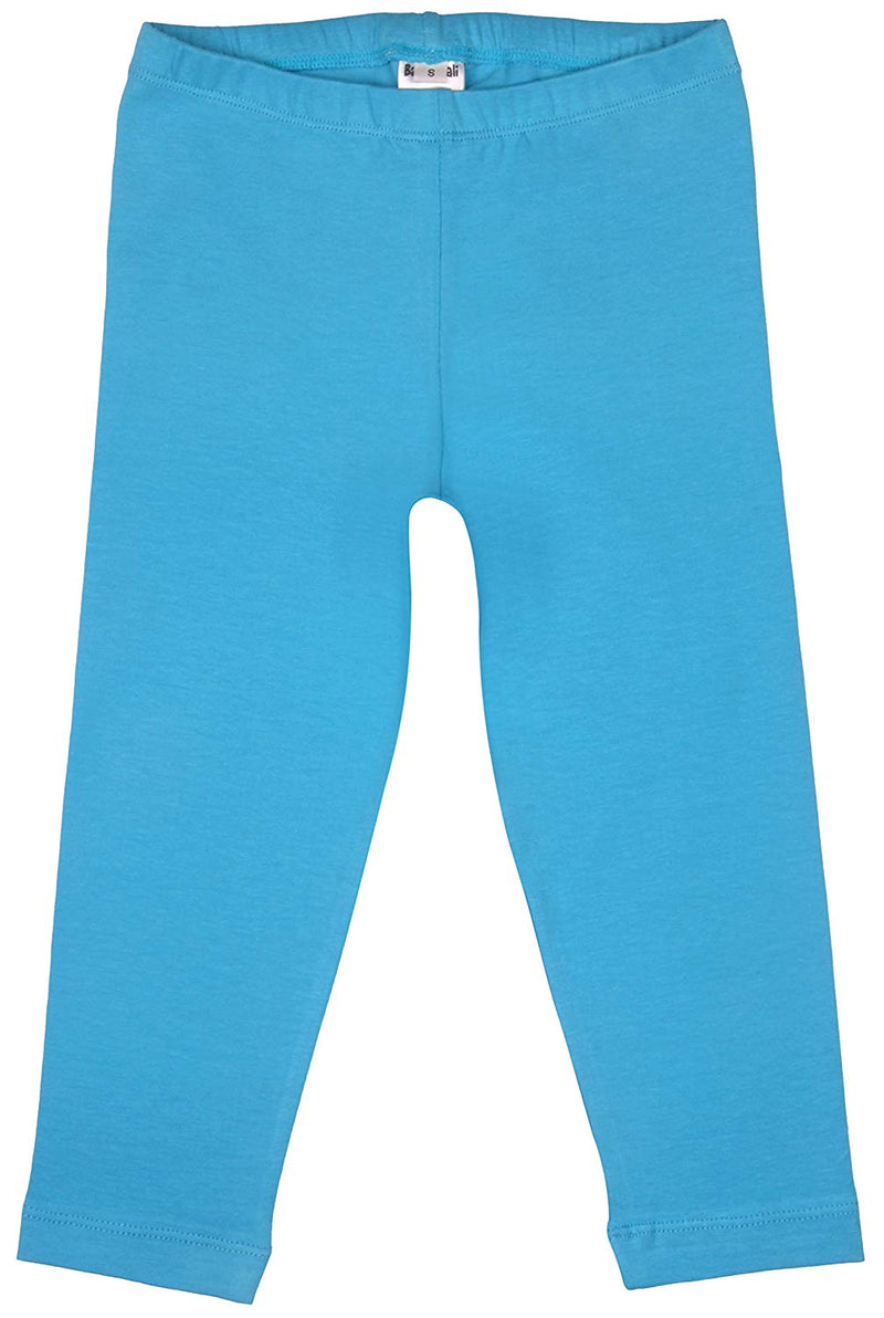 Back From Bali Little Girls Cropped Leggings Cotton Turquoise X Small