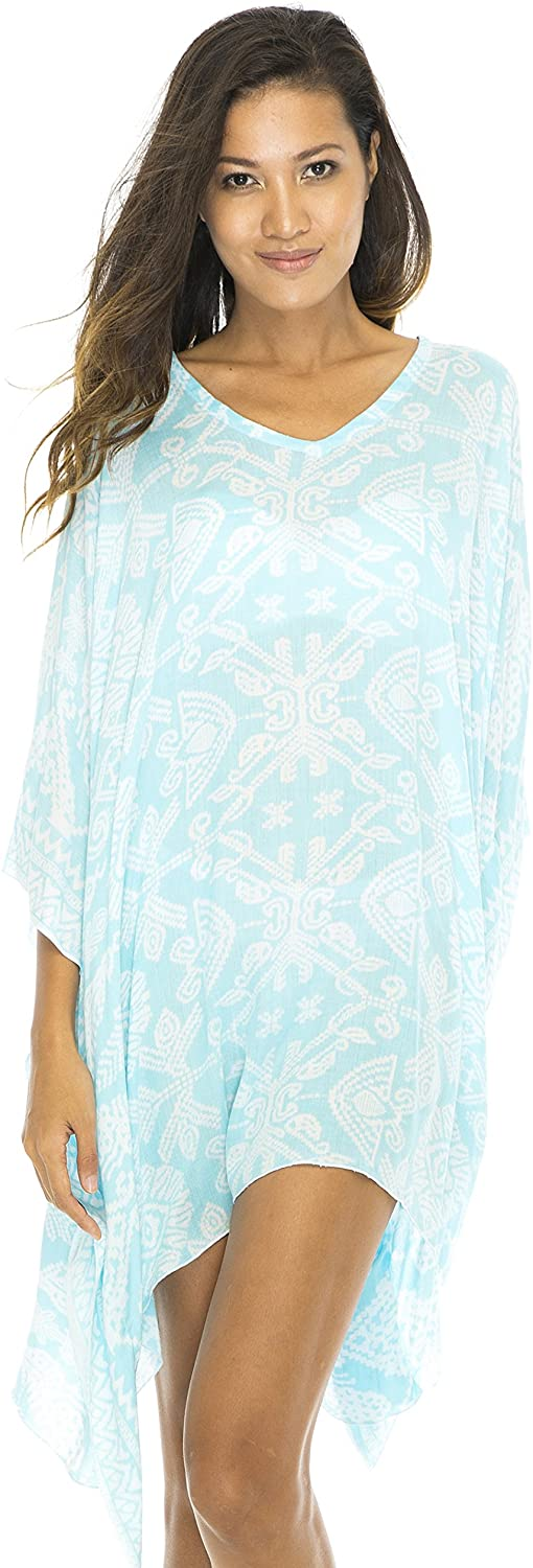 Short Lightweight Ikat Print Swimsuit Cover Up