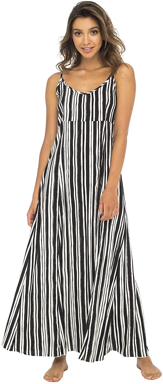 Striped Sleeveless Long Maxi Dress