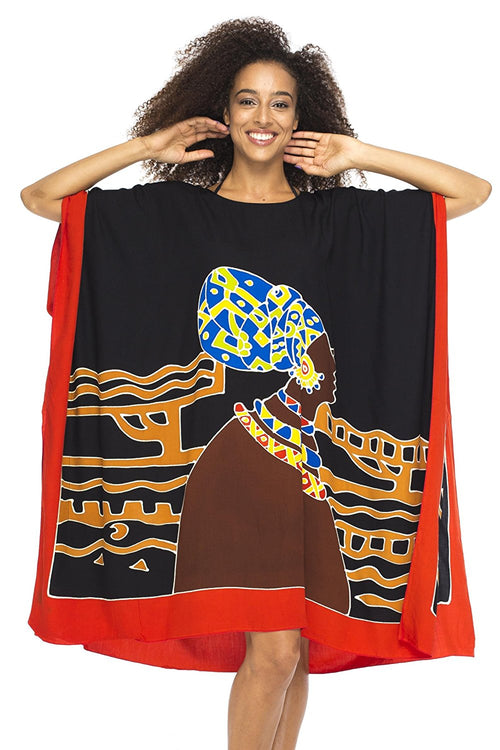 Short African Beach Swim Suit Cover Up Caftan Poncho