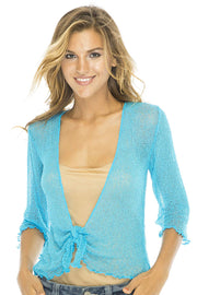 Classic Lightweight Knit Cardigan Shrug Lite Sheer