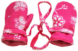 Back From Bali Girls Baby Toddler Mittens with String Micro Fleece Warm Winter