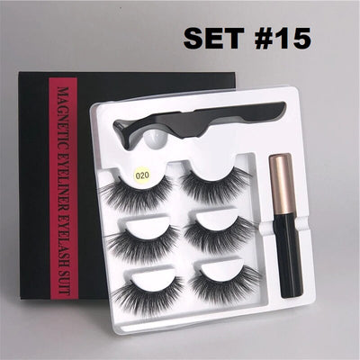 Level Magnetic Eyelashes (3 PAIRS) + Eyeliner