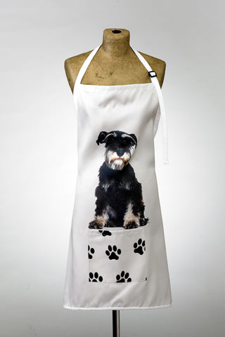 Adorable Schnauzer Design Apron Dog Apron - Adorable Cushions