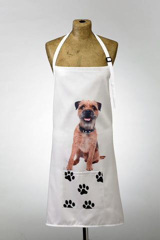 Adorable Border Terrier Design Apron