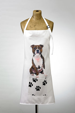 Adorable Staffie Design Apron Dog Apron - Adorable Cushions