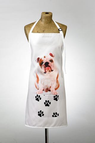 Adorable British Bulldog Design Apron Dog Apron - Adorable Cushions